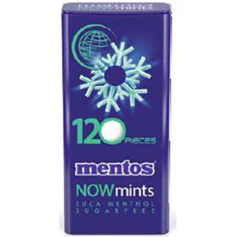 MENTOS Now Mints Euca Menthol Tin 60GR