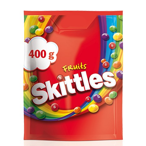 Skittles Fruit Candies Pouch 400 Gr